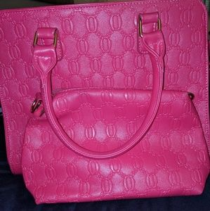Purse with matching cosmetic bag